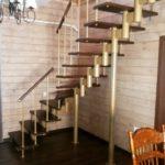 Модульная лестница «Престиж» поворотная (90 градусов)