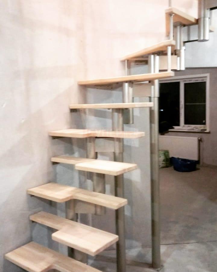 Модульная лестница «Престиж Мини» прямая