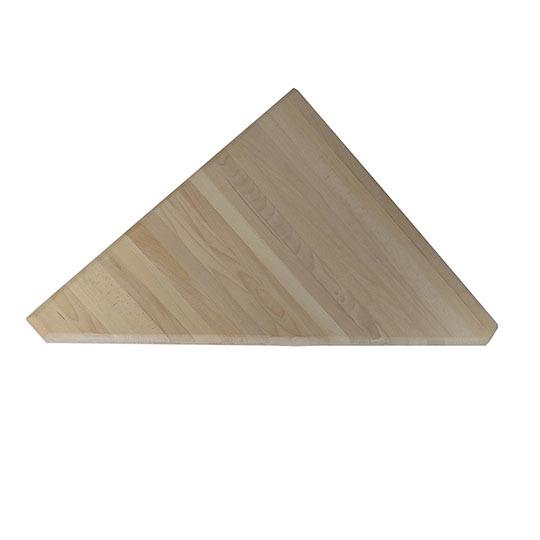Ступень треугольная из дуба. Для поворота марша лестницы на 90 градусов.