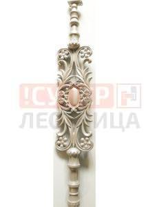 Балясина ЛеГранде 4 цветка (бриллиантовый муар) художественное литье