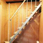 Лестница на 2-й этаж для небольших (маленьких) проемов-2