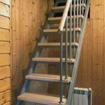Лестница на 2-й этаж для небольших (маленьких) проемов-3