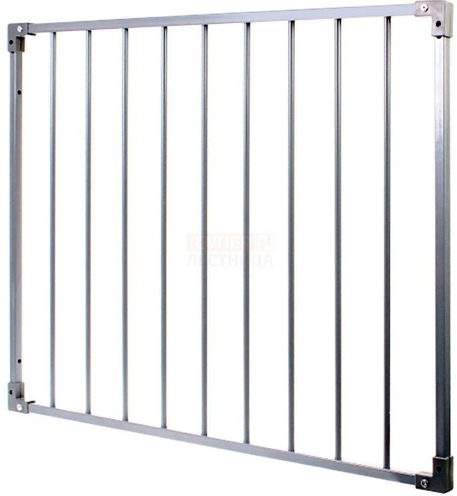 Барьер защитный стальной (ворота безопасности) цвет алюминиевый металлик, комплект2
